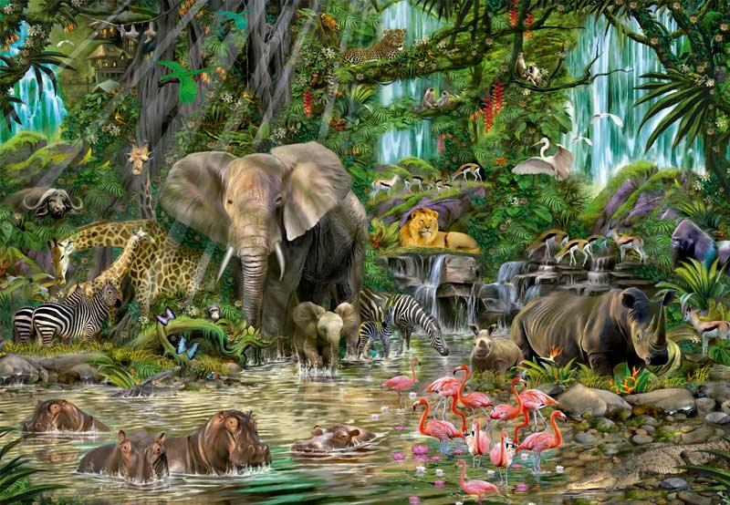 African Jungle 2000pc @ https://www.jestersfunfactory.net/