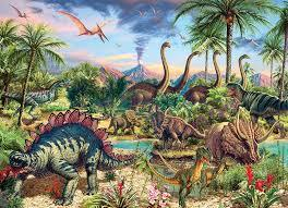 Prehistoric Party Family Puzzle 350pc
