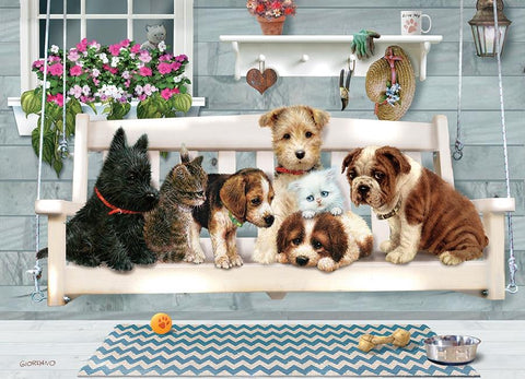 Porch Pals Family Puzzle 350pc