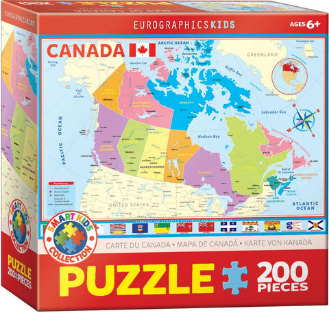 Map of Canada 200pc