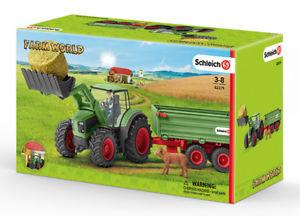 Tractor with Trailer From Schleich Farm World
