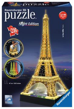 3D Eiffel Tower by Night 216pc