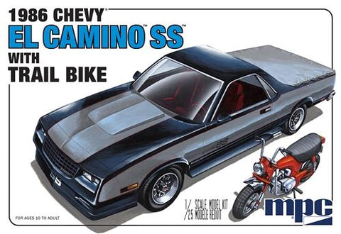 86 Chevy El Camino SS with Trail Bike