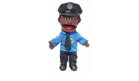"Silly Puppets 14"" Policeman (Black)"
