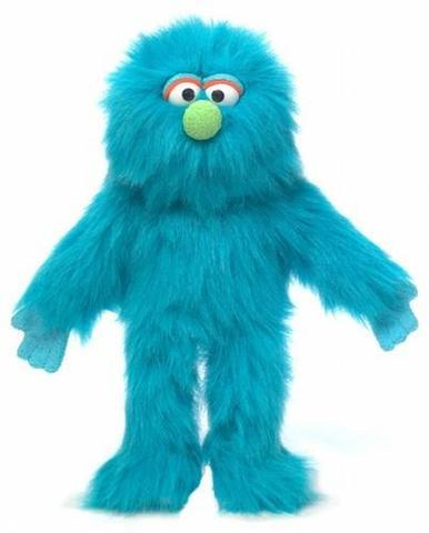 "Silly puppets 14"" Blue Monster"