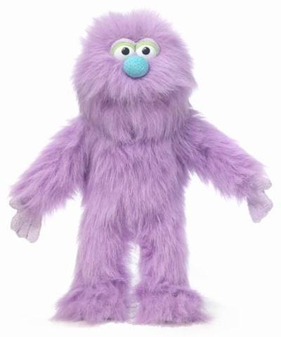 "Silly Puppets 14"" Purple Monster"