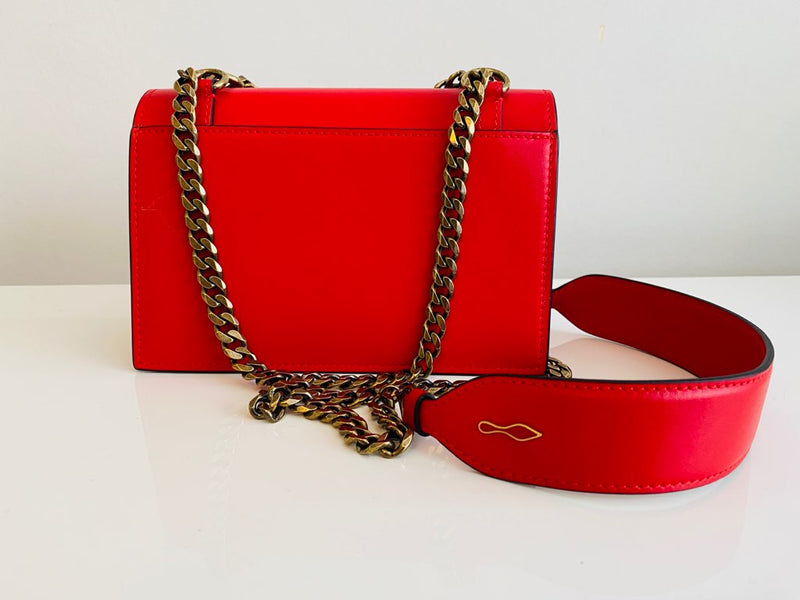NEW Christian Louboutin Elisa Mini Red Leather Cross / Shoulder Bag