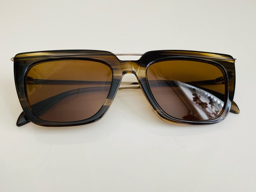 NEW Alexander McQueen Top Bar Tortoise Shell Sunglasses
