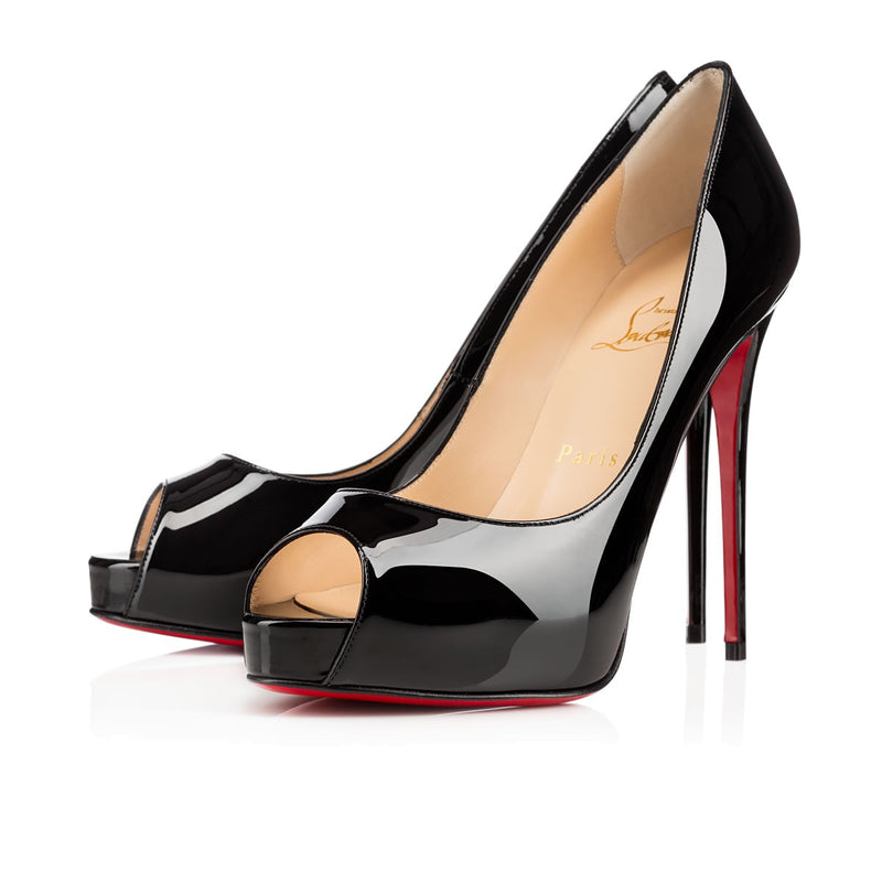Christian Louboutin New Very Prive 120 Patent Black Pumps 39.5