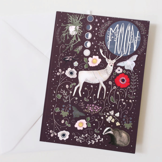Stag and moon notebook
