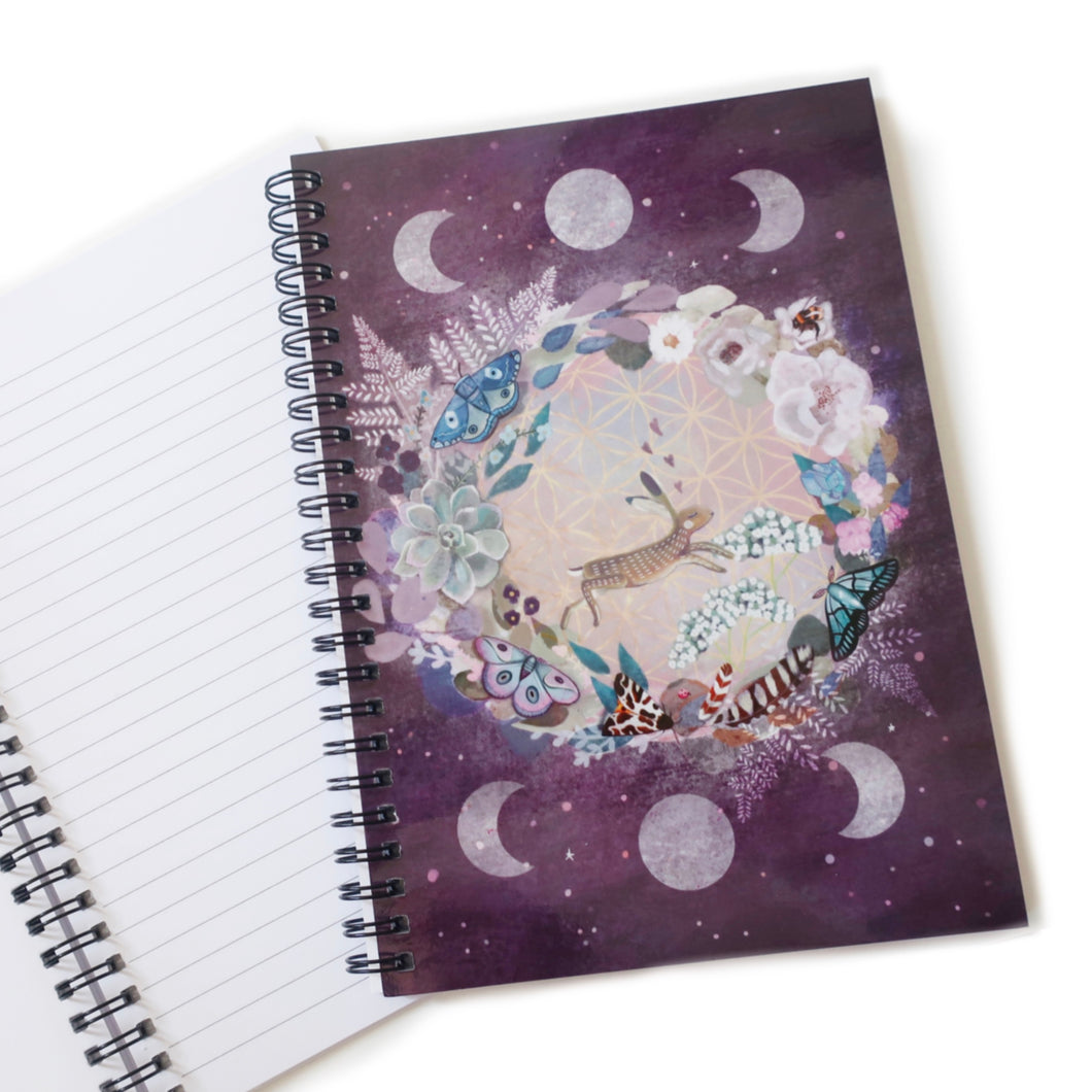 Lined/plain hare moon notebook