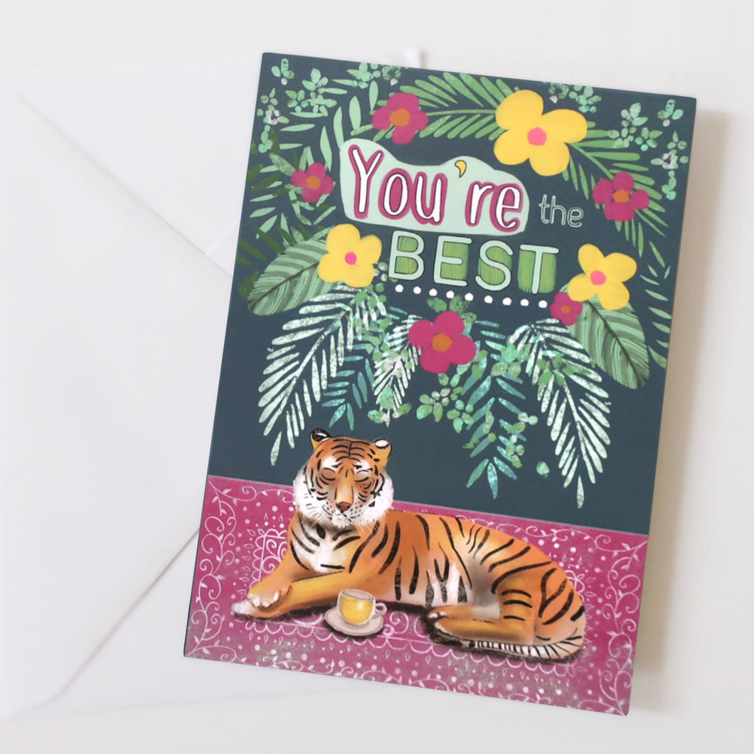 You're the best - tiger card