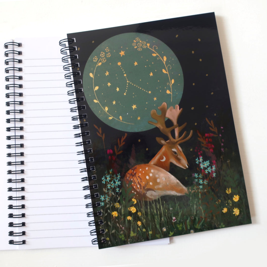 Lined/plain deer notebook