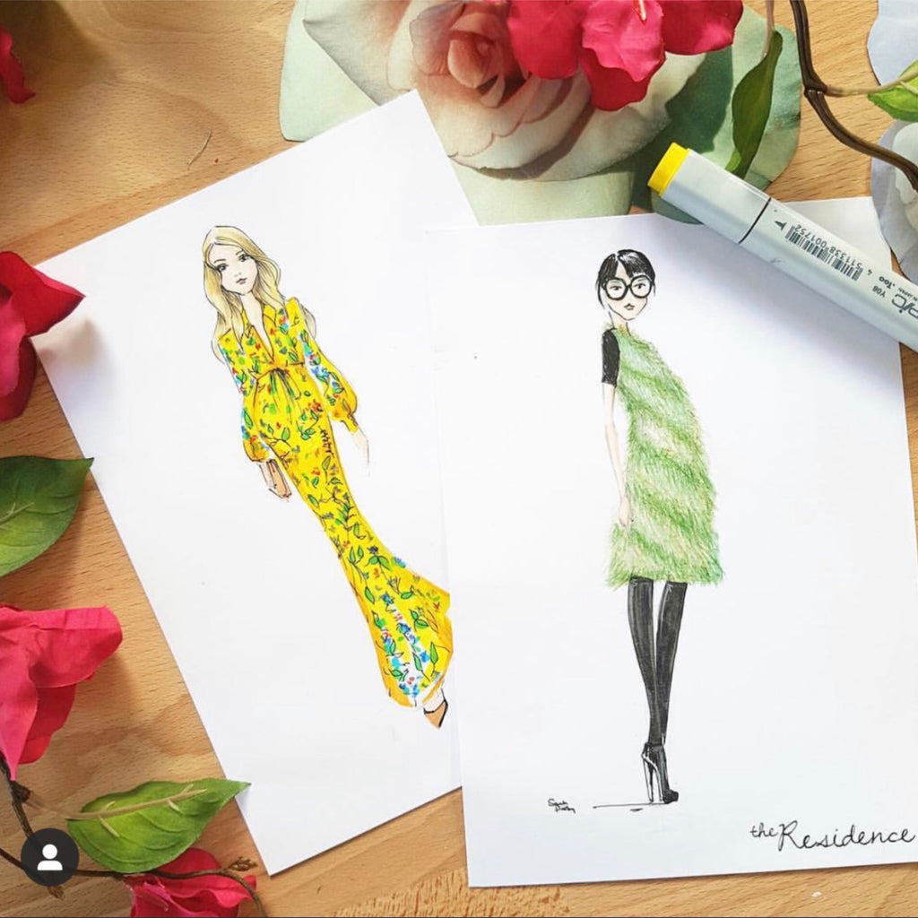 live illustration | luxury event \ Sarah Darby