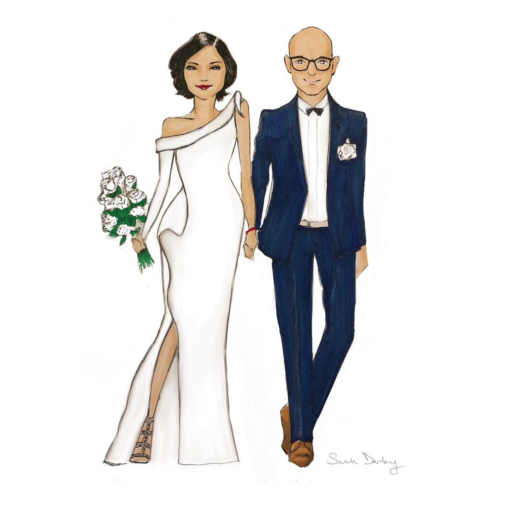 Wedding couple | Wedding illustration | Sarah Darby