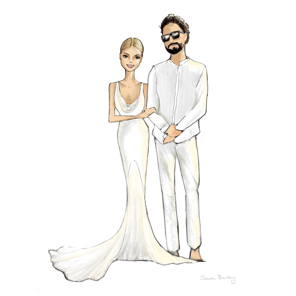 digital illustration | wedding couple | sarah darby