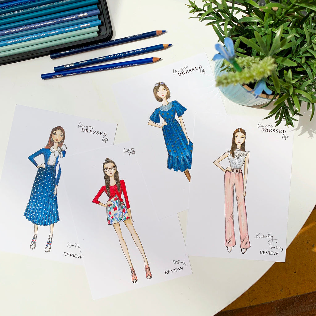 live fashion illustration | Review Australia | Sarah Darby