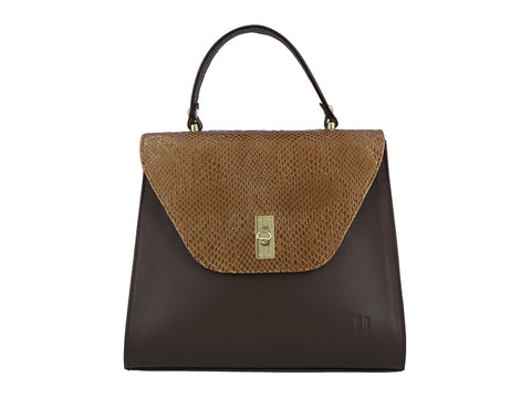 The Aster Bag - Brown copper Gold