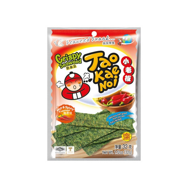 Japanese Crispy Seaweed Snack Hot & Spicy Flavour (32g) - Taokaenoi