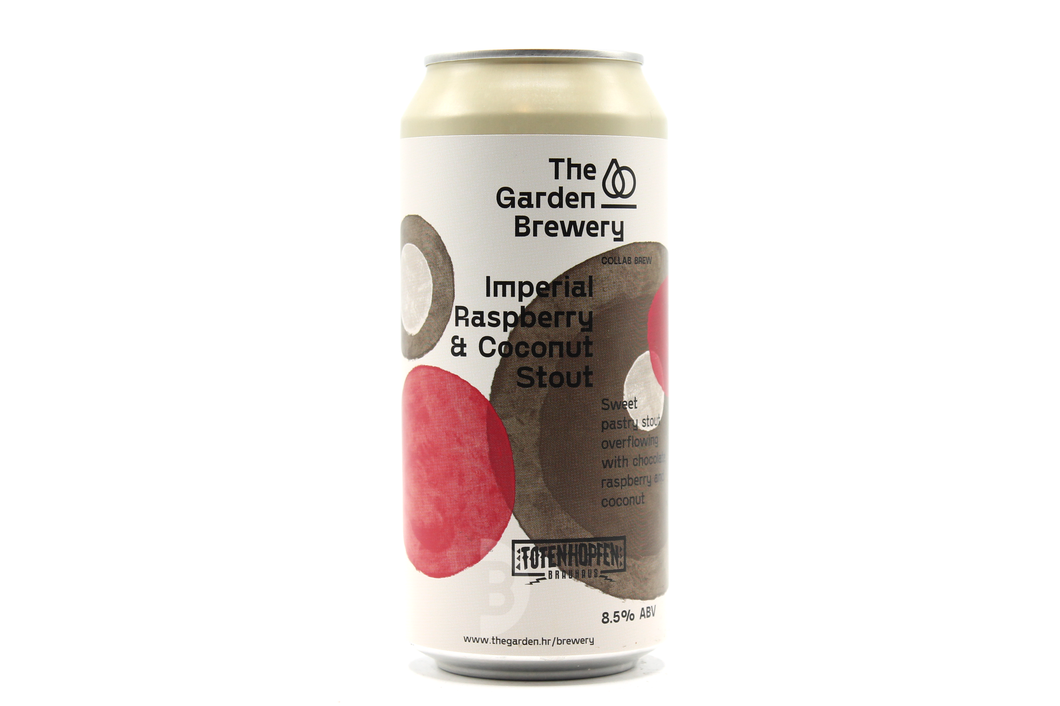 Imperial Raspberry & Coconut Stout (500ml) - The Garden Brewery