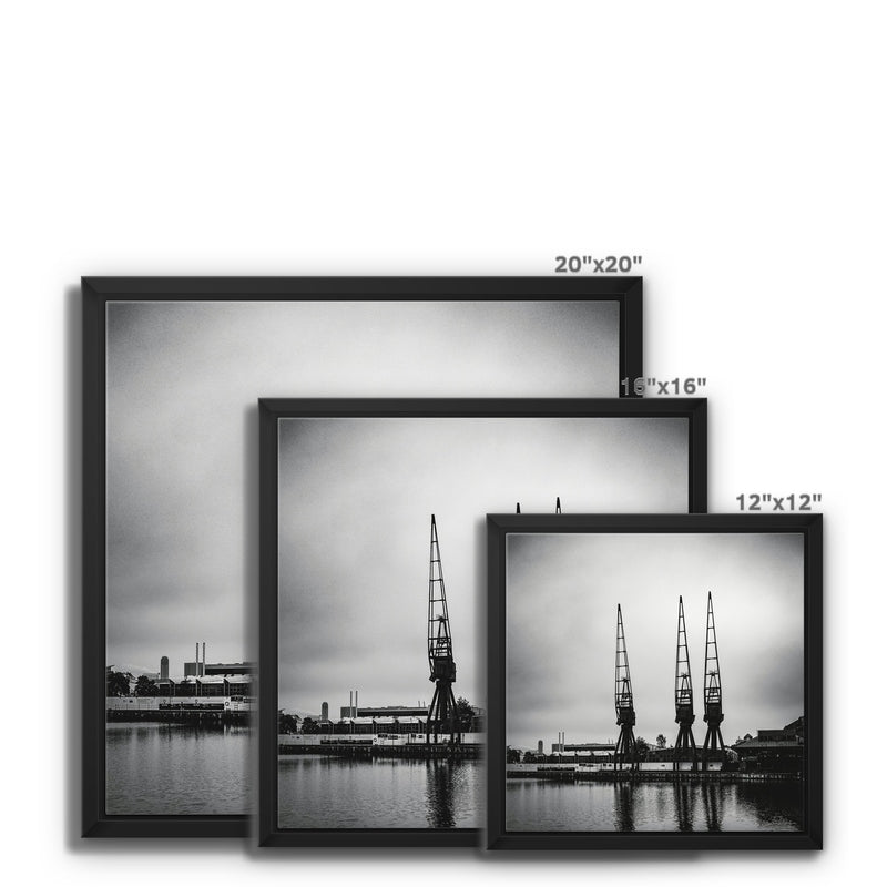 Millwall Inner Dock, Canary Wharf, London, UK Framed Canvas - Manuel Sechi Fine Art Photography