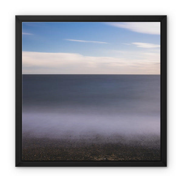 Cobbolds Point, Felixstowe, Suffolk, UK Framed Canvas - Manuel Sechi Fine Art Photography