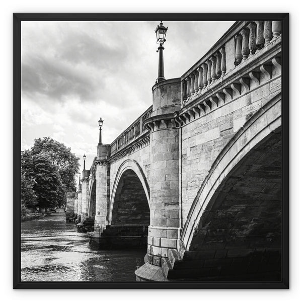 Richmond Bridge, London, UK - Framed Canvas