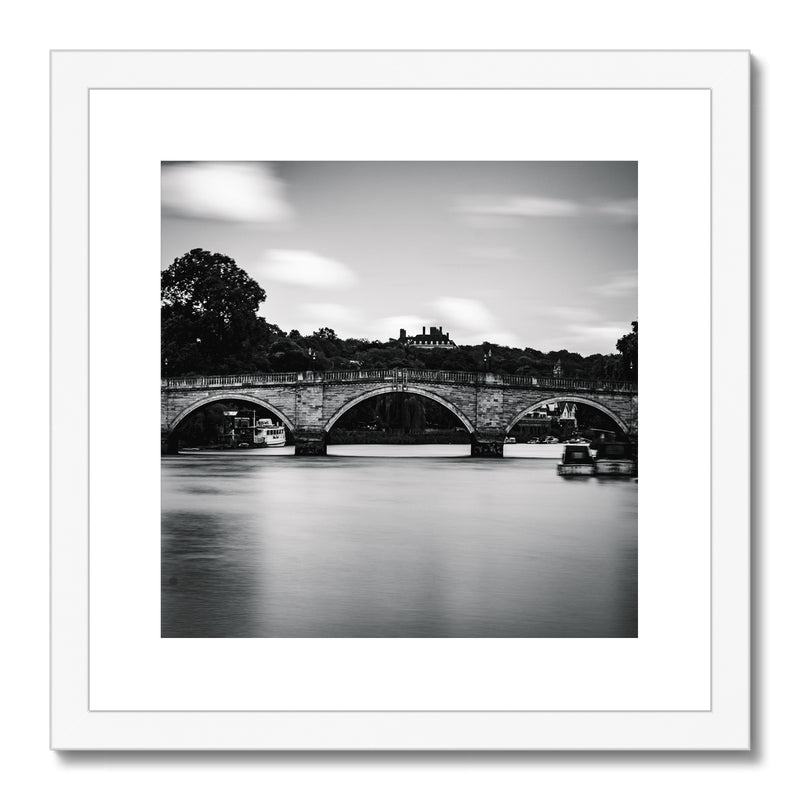 Richmond Bridge, Richmond, London, UK Framed & Mounted Print - Manuel Sechi Fine Art Photography