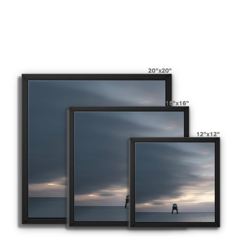 Dovercourt Lighthouse, Harwich, Essex, Uk - Framed Canvas - Manuel Sechi Photography