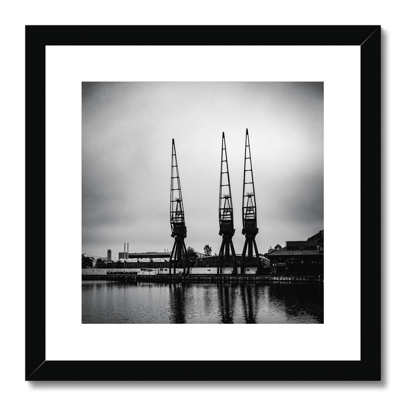 Millwall Inner Dock, Canary Wharf, London, UK Framed & Mounted Print - Manuel Sechi Fine Art Photography