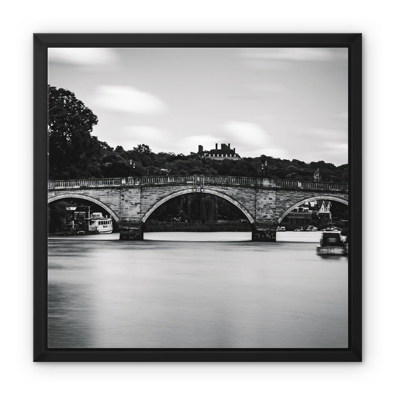 Richmond Bridge, Richmond, London, UK Framed Canvas - Manuel Sechi Fine Art Photography