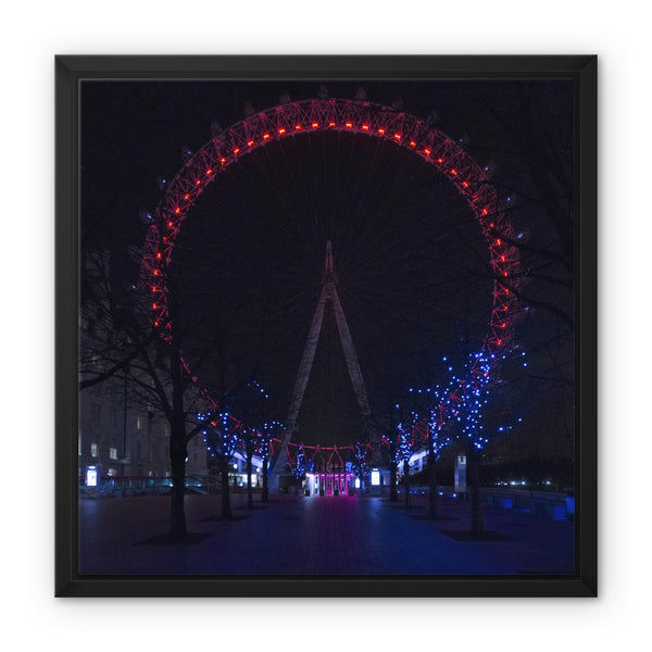 The London Eye, London, UK - Framed Canvas