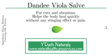 Load image into Gallery viewer, Dandee Viola Salve - Natural HealthCare Services NHCS Y'DARB NATURALS Pittsburgh,PA All Organic,Natural,Wildcrafted Skin & Beauty Products