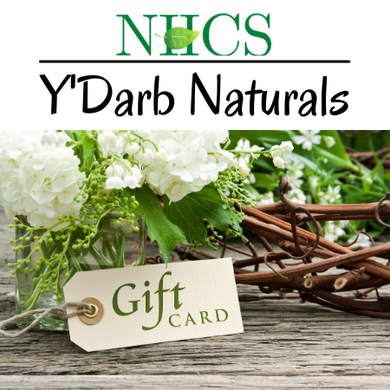 Y'Darb Natural eGift Card - Natural HealthCare Services NHCS Pittsburgh,PA Organic,WildcraftedNatural Skin and Beauty products Non Toxic Beauty HealthCare