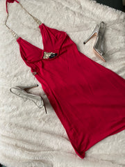 Red Dress & Silver Heels from Movie