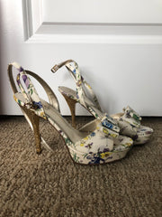 Cream Floral & Gold Heels from the first movie I directed!