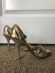 Gold & Crystal Heels (from 2 movie/award show appearances)