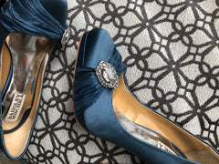 Blue Satin & Crystal Pumps from Holly Randall Photoshoot/L.E. 8x10s