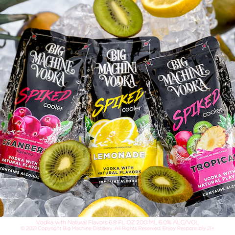 Spiked Coolers in stores now - vodka juice pouches Tropical Cranberry and Lemonade