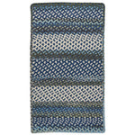 Wanderer Deep Blue Braided Rug Cross-Sewn image