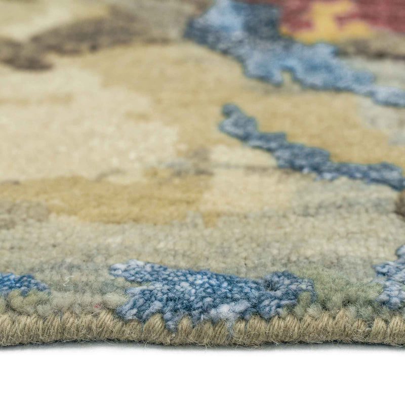 Tasanee Amber Multi Hand Knotted Rug Rectangle Cross Section image