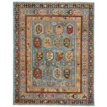 Charise-Shirvan Blue Amber Hand Knotted Rug Rectangle image