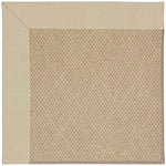 Creative Concepts-Cane Wicker Canvas Antique Beige Machine Tufted Rug Rectangle image