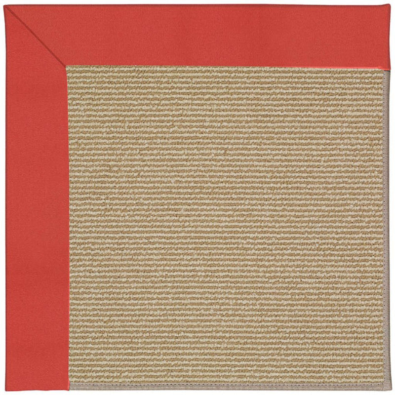 Creative Concepts-Sisal Canvas Paprika Machine Tufted Rug Rectangle image