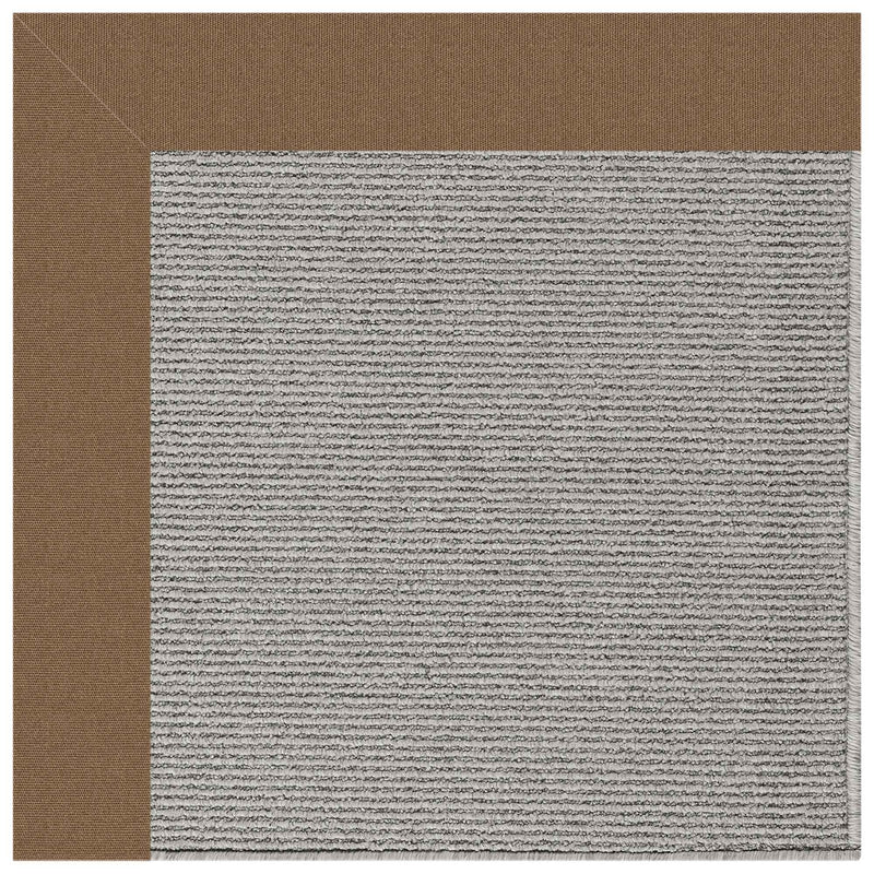Creative Concepts-Plat Sisal Canvas Cocoa Indoor/Outdoor Bordere Rectangle Corner image