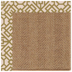 Islamorada-Herringbone Lattice Pesto Indoor/Outdoor Bordere Rectangle Corner image