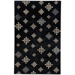 Glace Black Cream Hand Tufted Rug Rectangle image