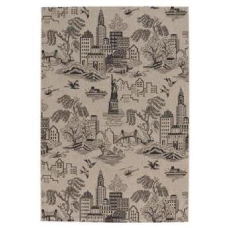 Finesse-NY Toile Noir Machine Woven Rug Rectangle image