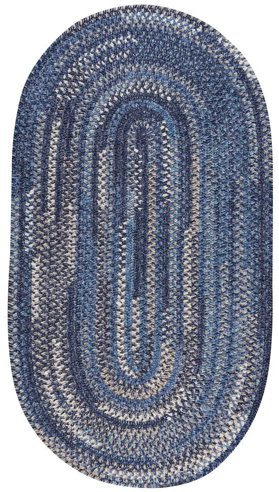 New Homestead Moody Blue Braided Rug Oval image