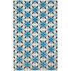 Coco's Flower Peacock Brown Hand Knotted Rug Rectangle image